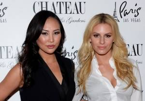 Chateau_Morgan Stewart and Dorothy Wang Pose on the Red Carpet at Chateau Nightclub & Rooftop_Bryan Steffy
