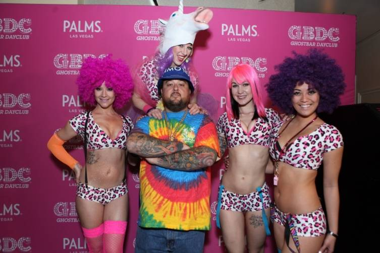 Chumlee arrives at Ghostbar Dayclub