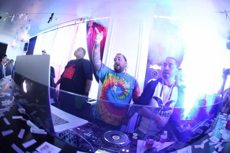 Chumlee debuts DJ skills at Ghostbar Dayclub