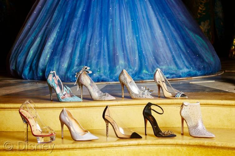 Cinderella Glass Slipper Display at SAKS