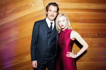 Clive Owen and Sarah Gadon wearing a Jaeger-LeCoultre Rendez-Vous Night & Day – Sam Deitch BFAnyc.com