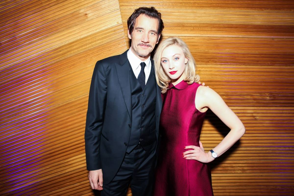 Clive Owen and Sarah Gadon wearing a Jaeger-LeCoultre Rendez-Vous Night