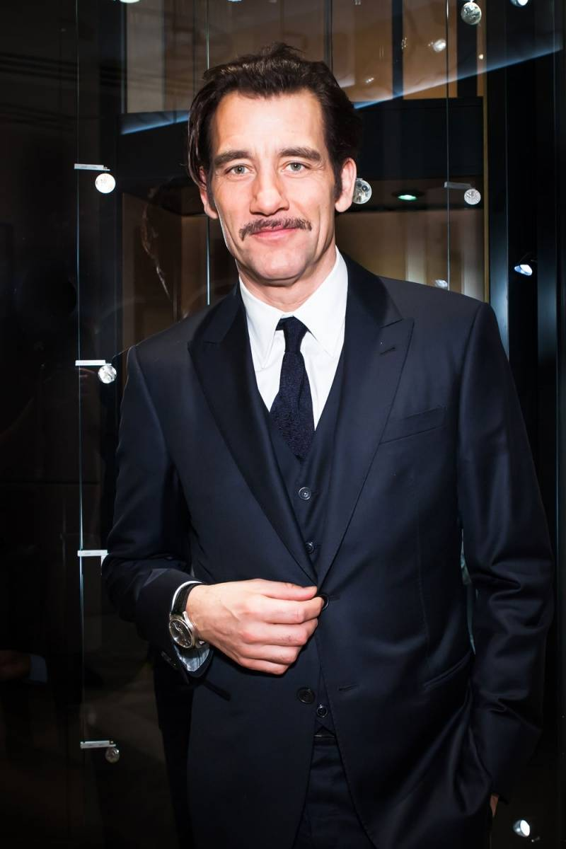 Clive Owen at the Jaeger-LeCoultre New York flagship opening wearing his Master Grande Tradition à Tourbillon 43 - Sam Deitch BFAnyc.com