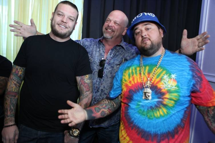 Corey and Rick Harrison all smiles with Chum Lee (R to L)