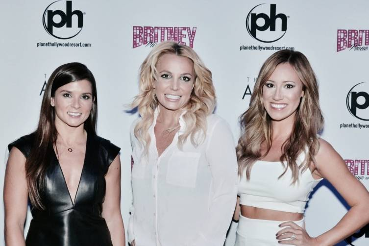 Danica Patrick with Britney Spears and Rachel Rupert