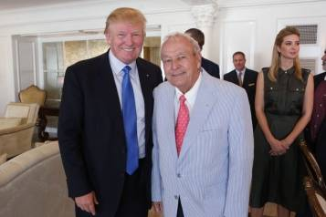 Donald Trump & Arnold Palmer inaugurate the Arnold Palmer Suite