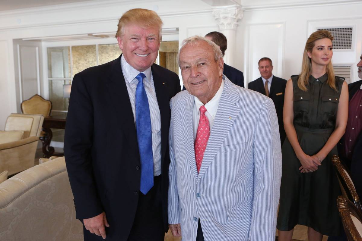 Donald Trump Arnold Palmer Inaugurate The Suite