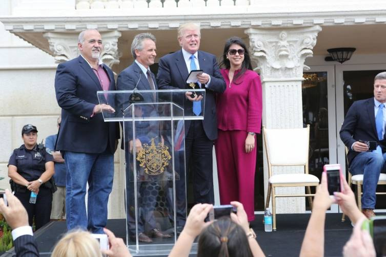 Donald Trump receives key to Doral