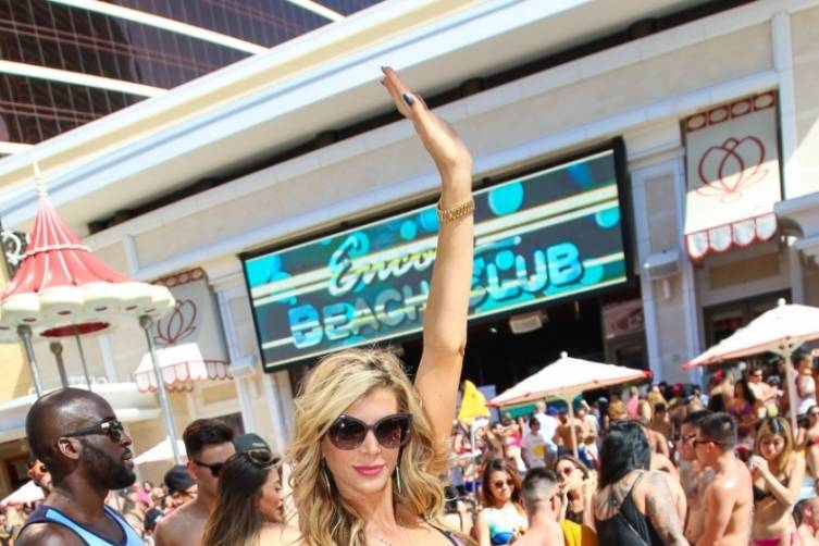Alexis Bellino at Encore Beach Club.