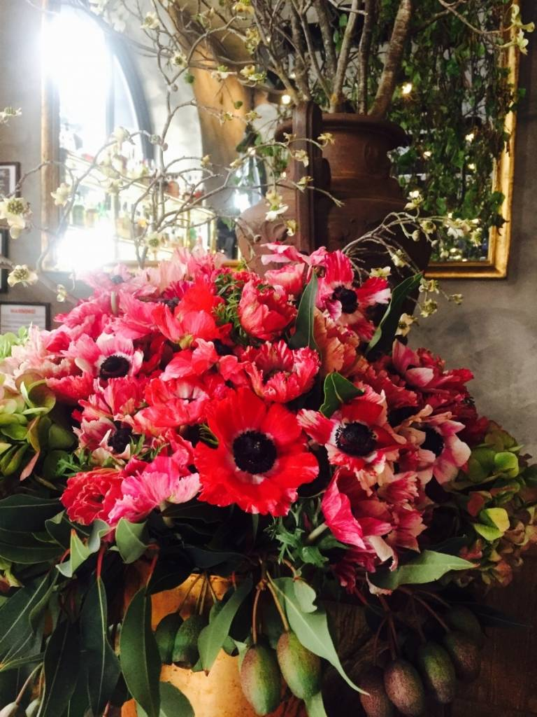 Stunning florals decorated the space.