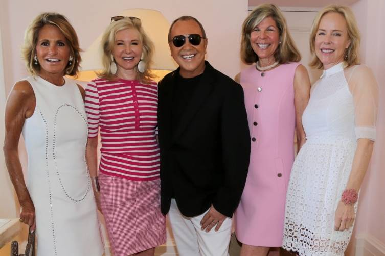 GRACE MEIGHER, HILARY GEARY ROSS, MICHAEL KORS, JAMEE GREGORY, AND CAROL MACK
