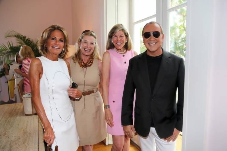 GRACE MEIGHER, PAULINE PITT, JAMEE GREGORY AND MICHAEL KORS