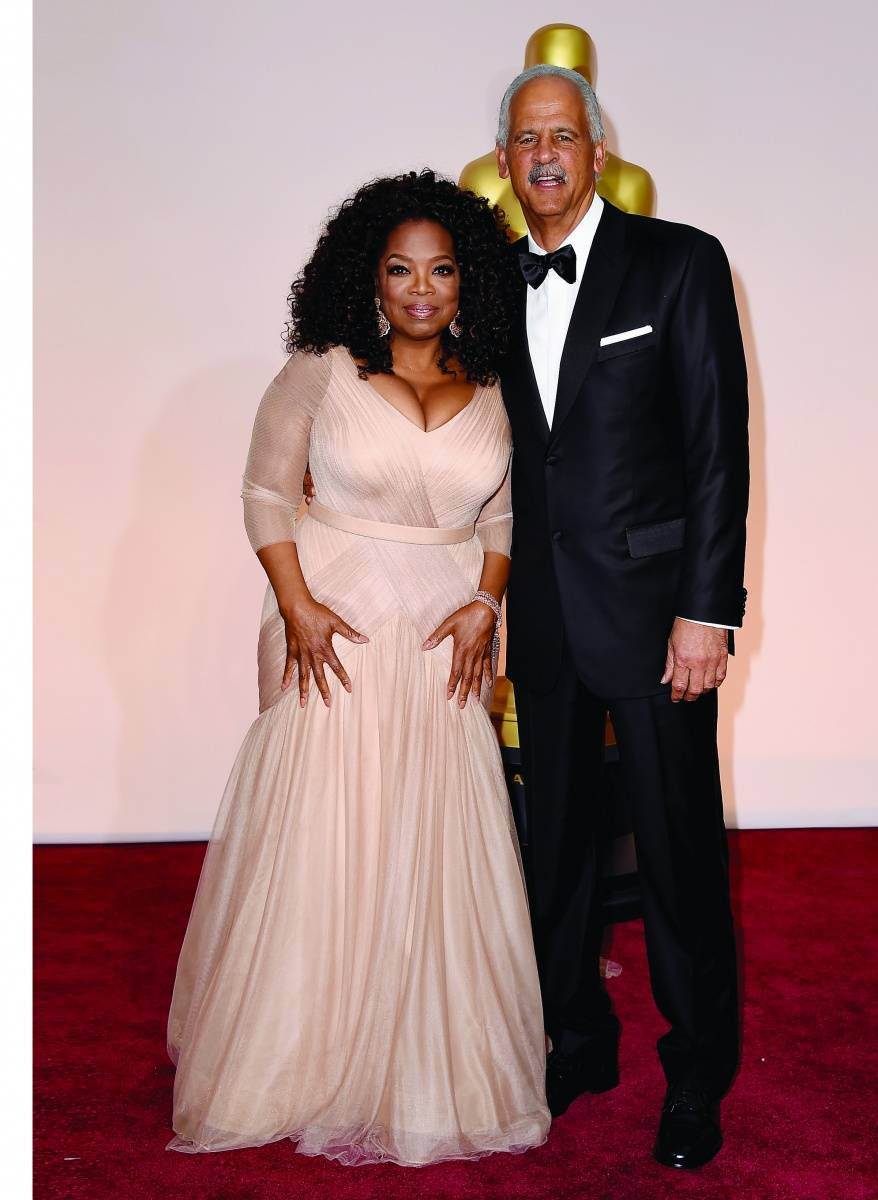 Oprah Winfrey & Stedman Graham arrive at the Oscars, image courtesy of Getty