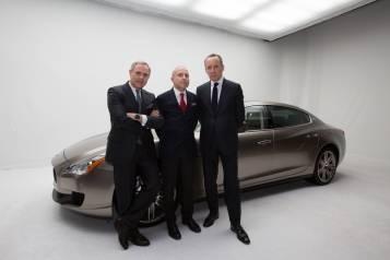 Harald Wester (CEO Maserati), HE Giorgio Starace (Italian Ambassador to the UAE), Ermenegildo Zegna (2)