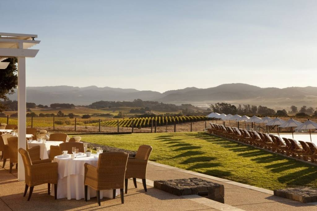 The Hillside Dining Room at The Carneros Inn