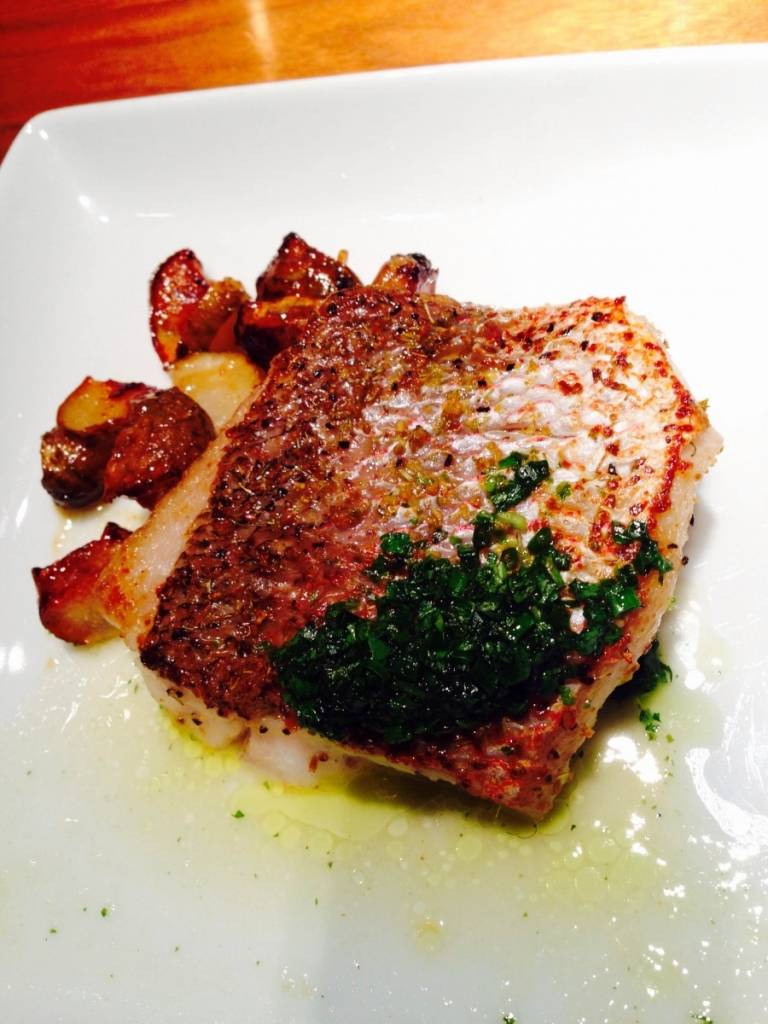 Honey-Fennel Pollen Seared Snapper