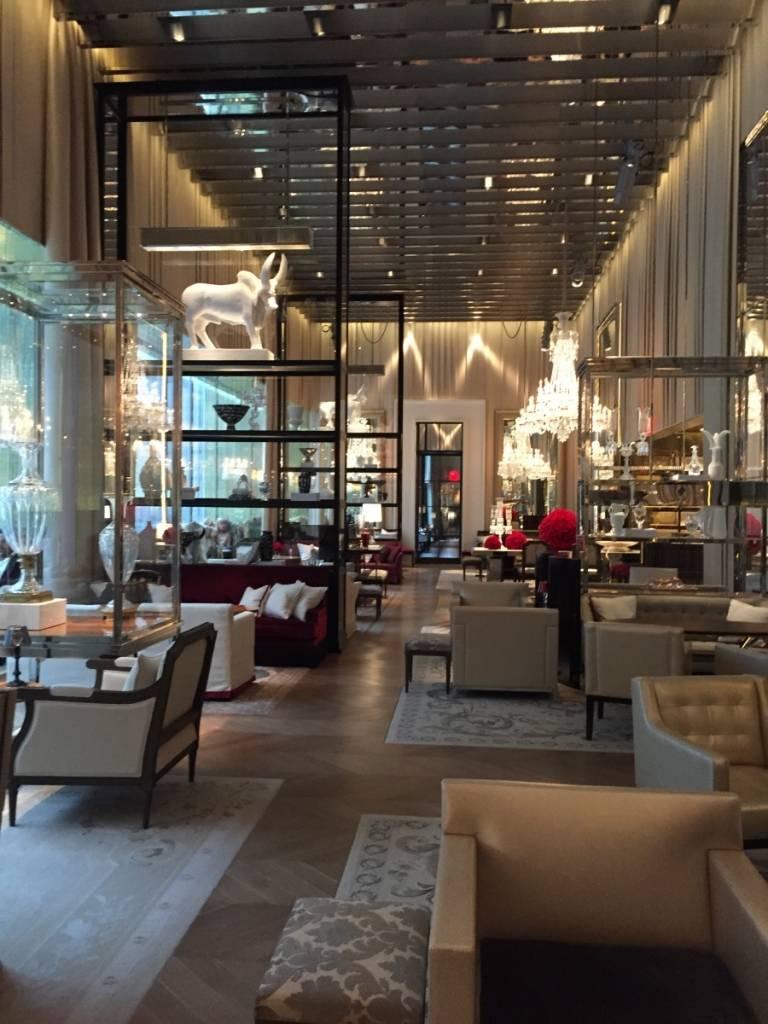 Go inside the haute baccarat hotel new york for Salon baccarat