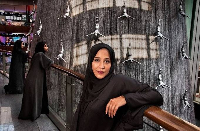 Amal Al Mutawa at the Dubai Mall, captured in a stunning image by Steve McCurry.
