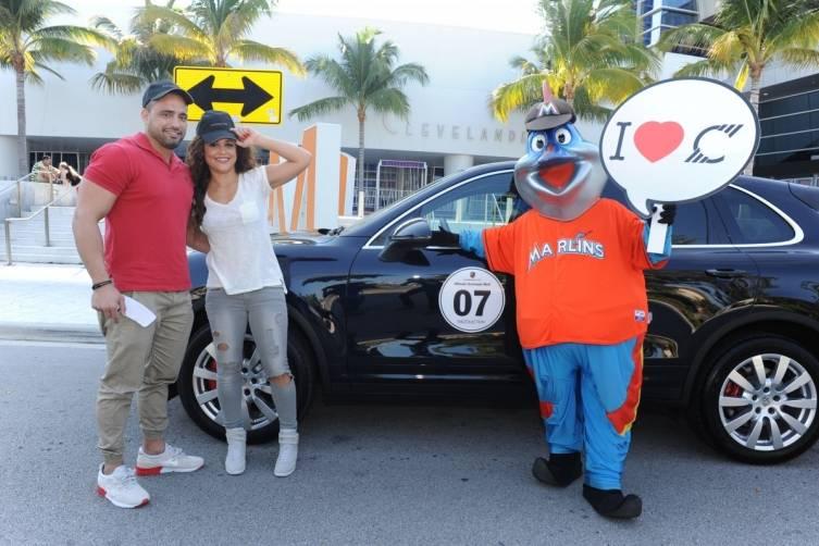 Javier Veloso, Janet Jones, & Billy the Marlin