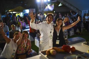 Jean-Christophe Novelli wowed crowds with live cookery demonstrations copy