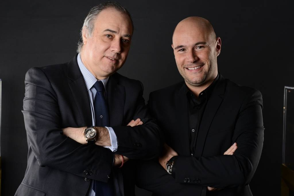 Jorge Puentes, President of Roger Dubuis NA, and Alex Dreyfus, CEO of Global Poker Index