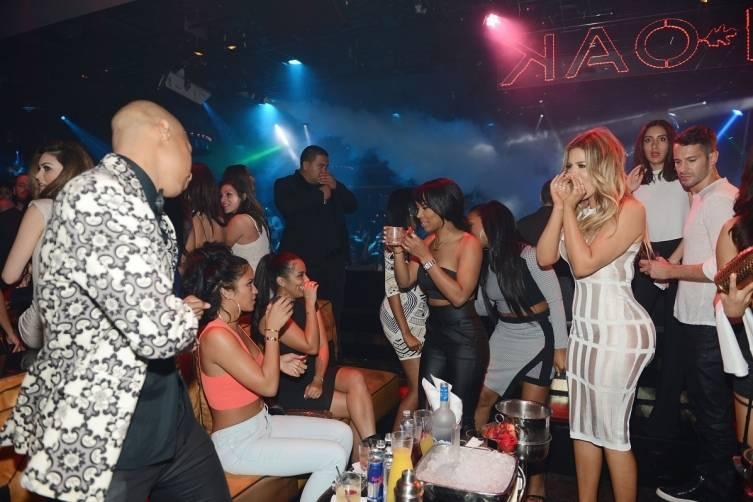 Khloe Kardashian at 1 OAK.