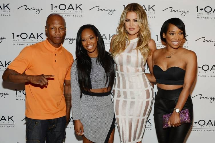 Khloe and friends on red carpet