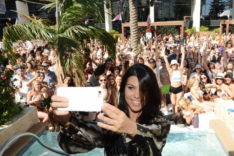 Kourtney Kardashian takes a selfie at Marquee Dayclub