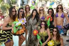 Kourtney Kardashian and friends at Marquee Dayclub.