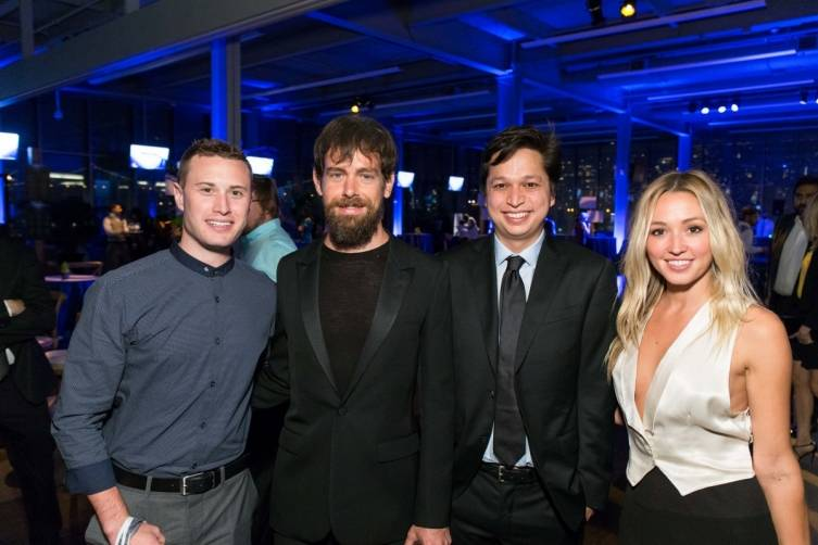 Kyle Zink, Jack Dorsey, Ben Silbermann and Kate Greer