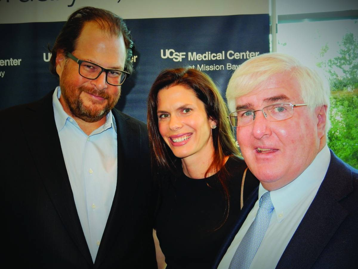 Marc Benioff, Lynne Benioff and Ron Conway