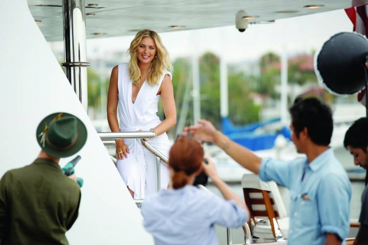Maria Sharapova LA BTS Photo 27