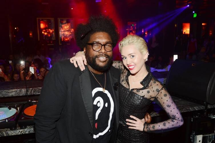 Questlove and Miley Cyrus at Heart of Omnia.