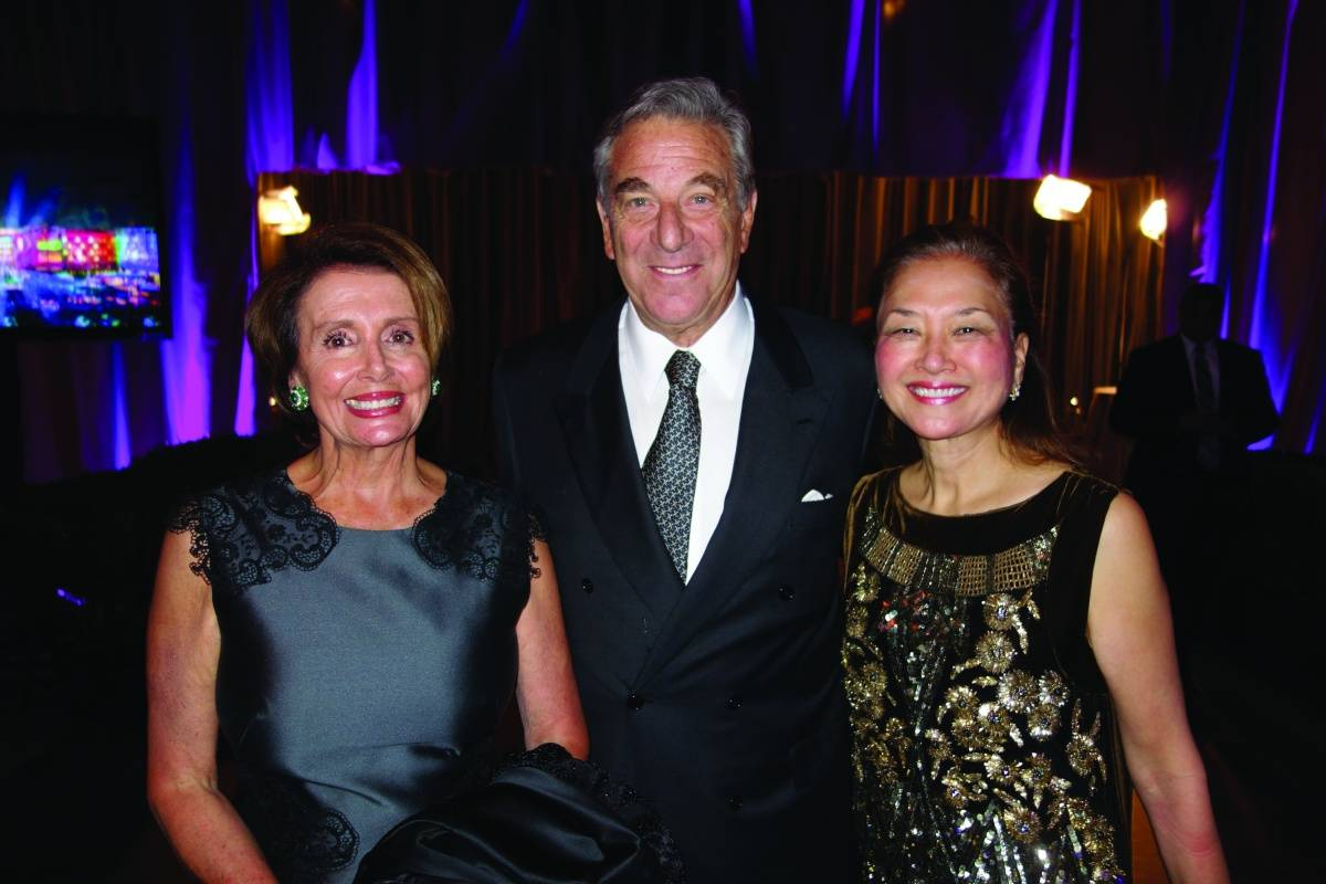Nancy Pelosi, Paul Pelosi and Olivia Hsu Decker