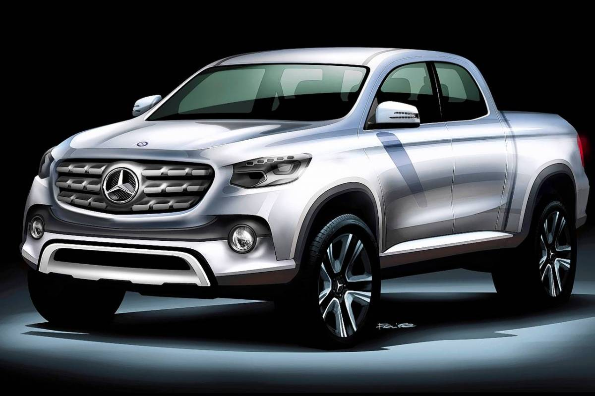 A sketch of the coming Mercedes-Benz midsize pickup