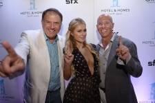 Richard LeFrak, Paris Hilton, Barry Sternlicht