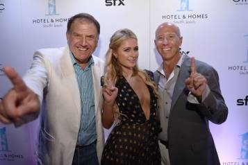Richard LeFrak, Paris Hilton, Barry Sternlicht