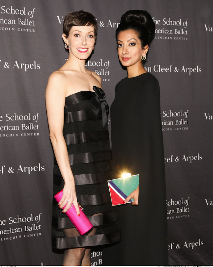 Amanda Brotman and Noreen K. Ahmad at American School of  Ballet's Winter ball