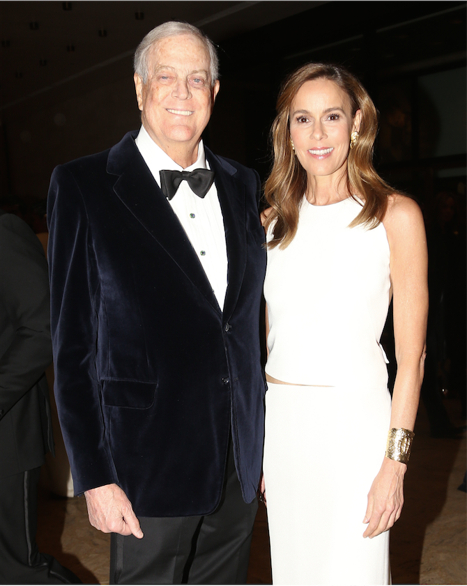 David H. Koch and Julia Koch at American Ballet School's Winter Ball