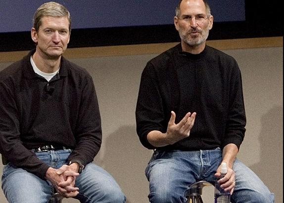 Tim Cook, Steve Jobs  Image via BGR