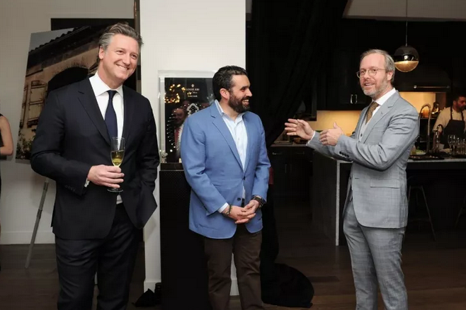 Prestige Brands at Remy Cointreau USA Yves de Launay, Publisher of Haute Living and Haute Time Magazine Seth Semilof and CEO at Audemars Piguet North America Xavier Nolot