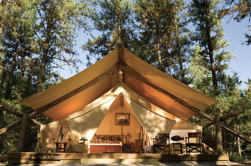 Luxury tent at the Resort at the Paws