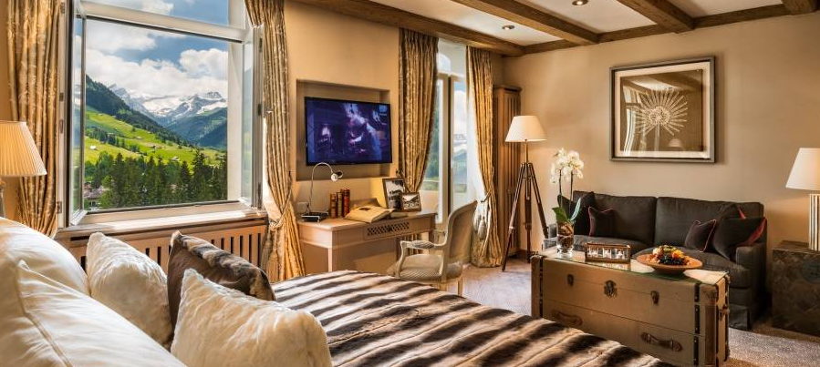 A suite at Gstaad Palace