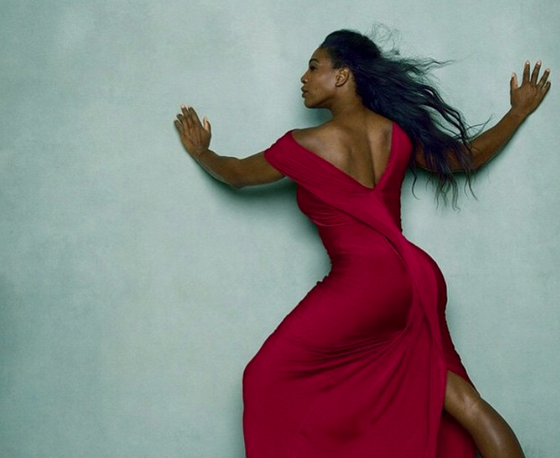 Serena Williams shot by Anne Leibovitz for Vogue