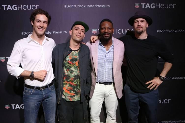 Bruno Senna, Jonas Cerwinske, DJ Irie, and Nick  Zano
