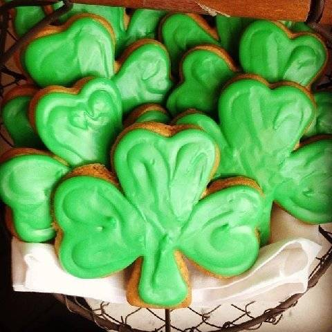 Shamrock cookies from The Larder