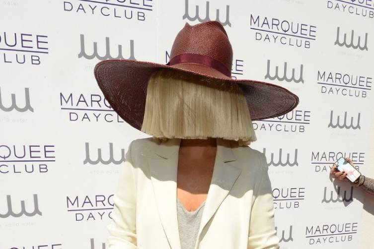 Sia on the red carpet at Marquee Dayclub.