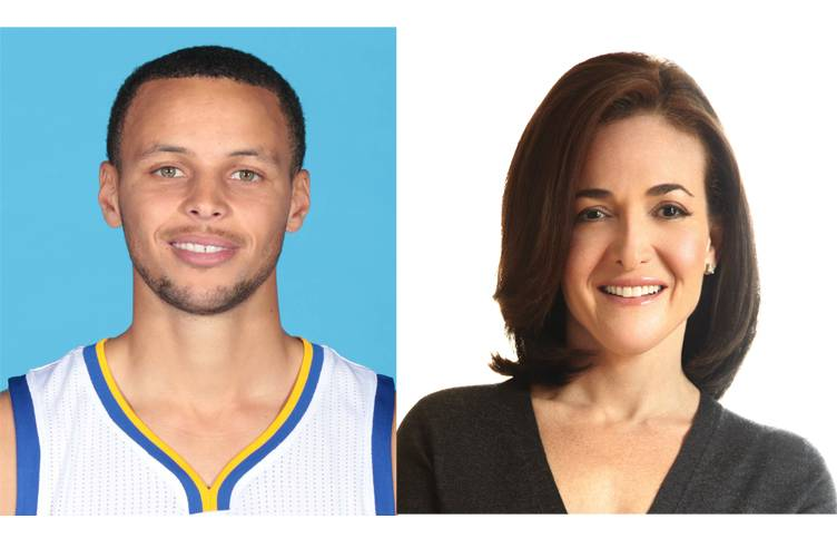 Steph Curry and Sheryl Sandberg