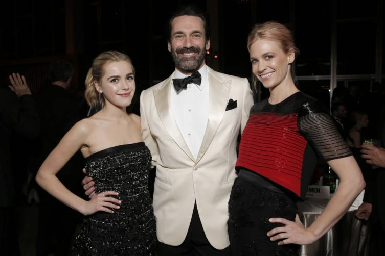 Kiernan Shipka, Jon Hamm and January Jones