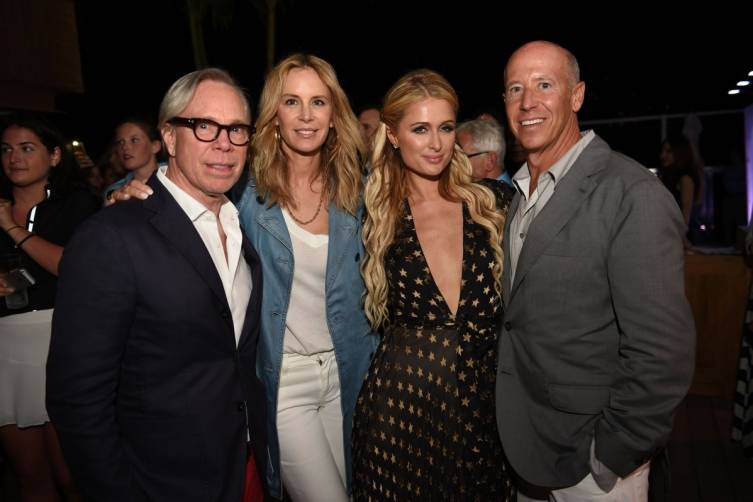 Tommy and Dee Hilfiger, Paris Hilton and Barry Sternlicht
